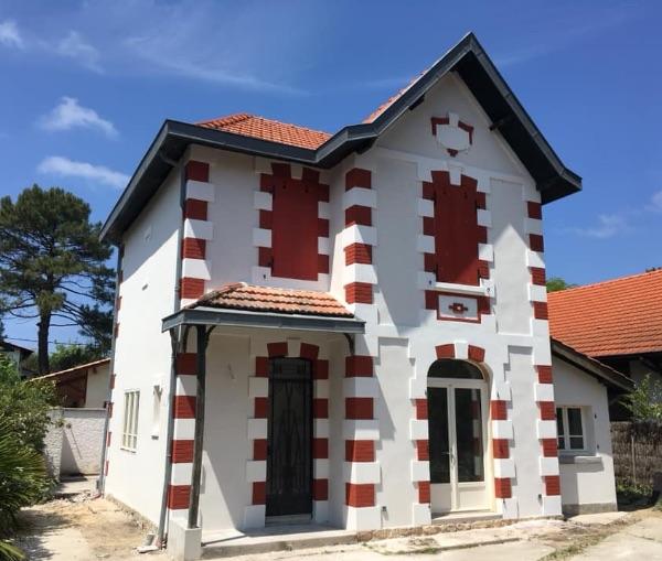 Rénovation de façade et isolation partielle au Pyla