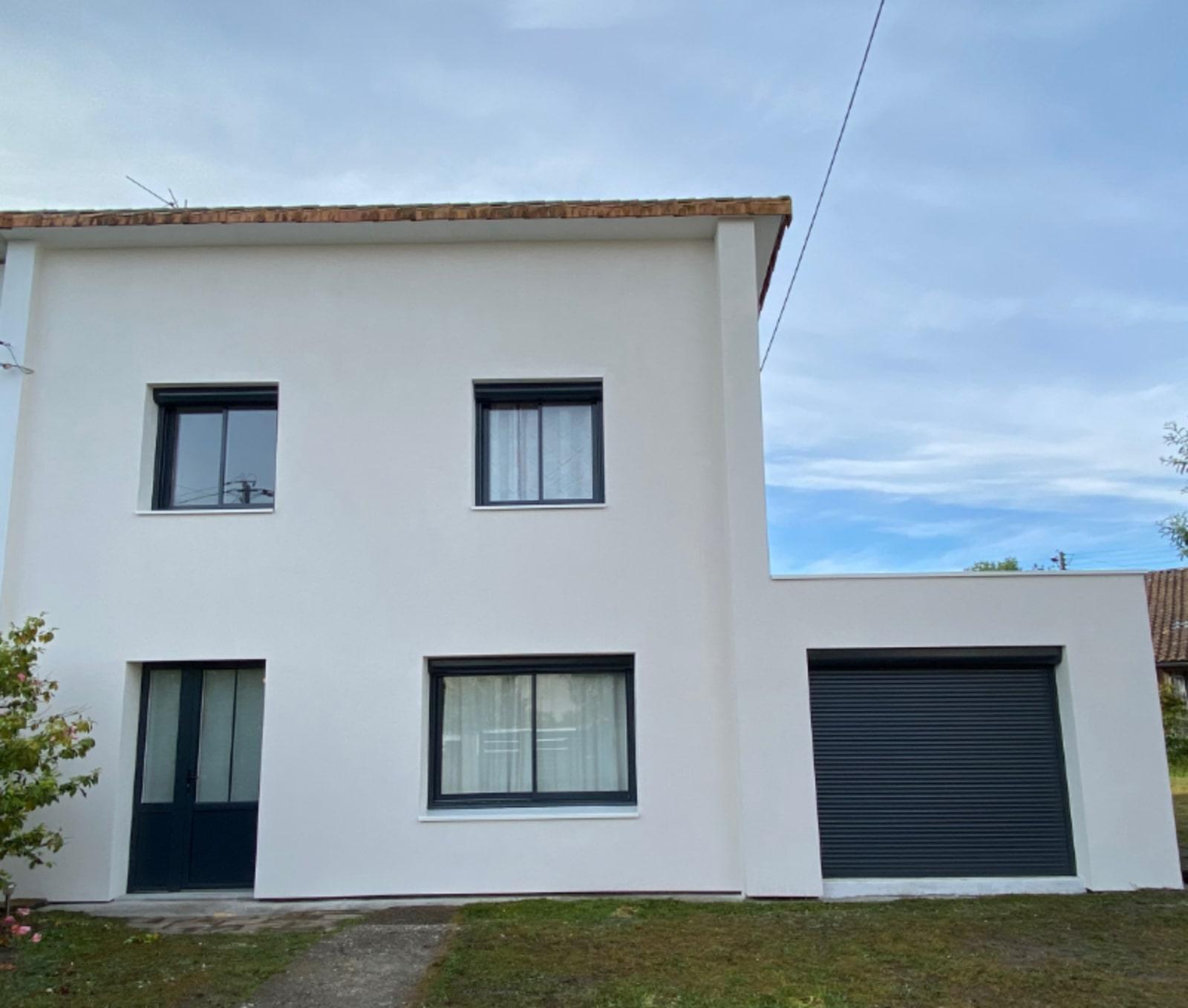 Photo maison après une isolation thermique par l'extérieur à Gradignan