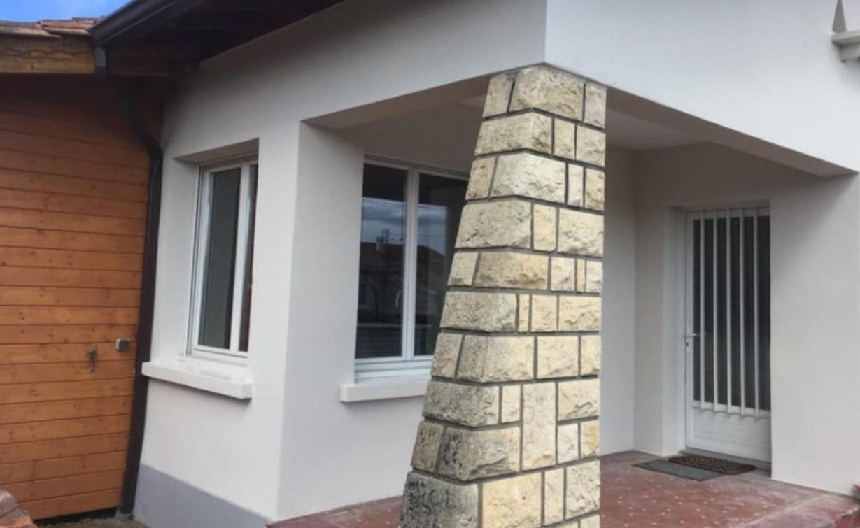 Après relissage des murs et peinture - ravalement de façade maison Gujan
