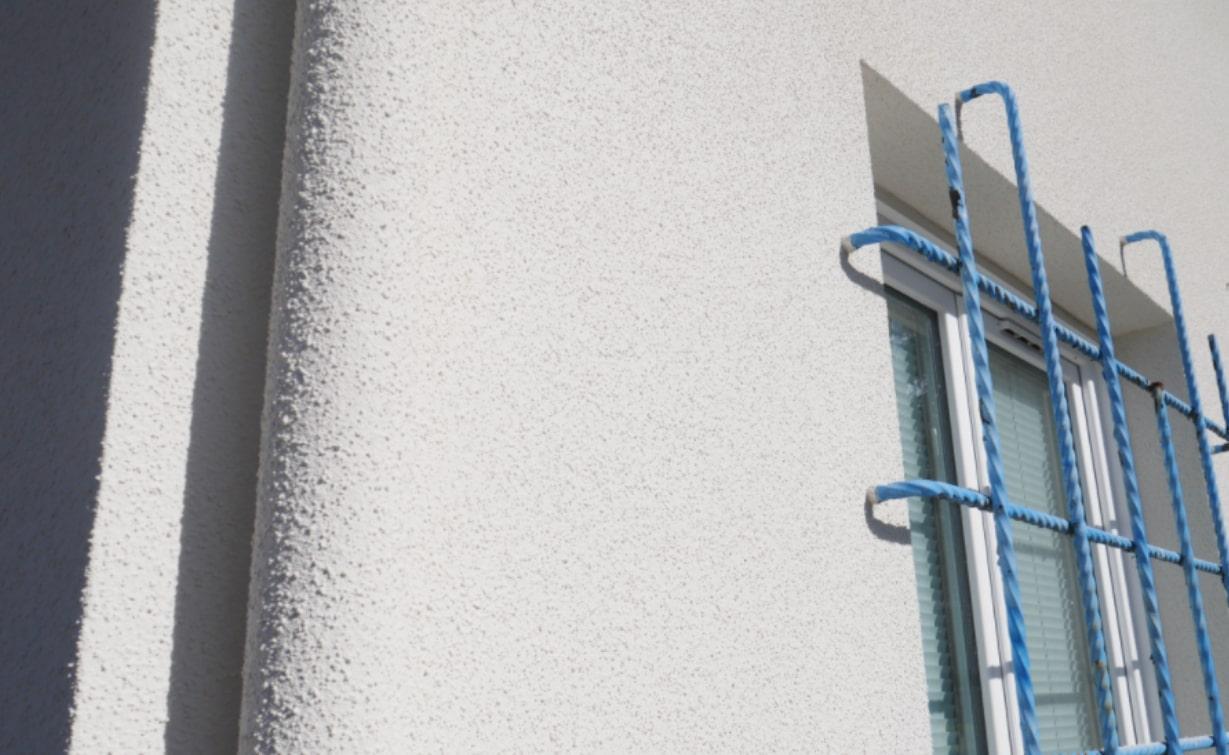 Photo mur maison plan rapproché après rénovation de façade à Pessac