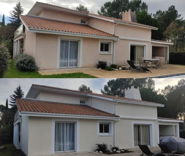 Avant / Après d'une réalisation ISO&FACE d'un ravalement de façade